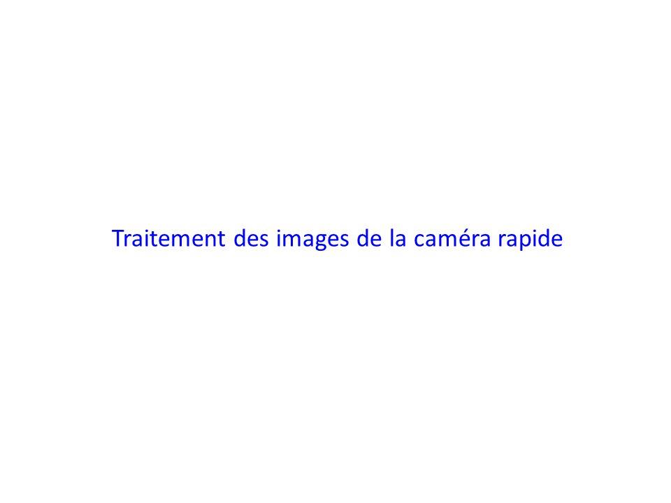 Traitement des images de la caméra rapide