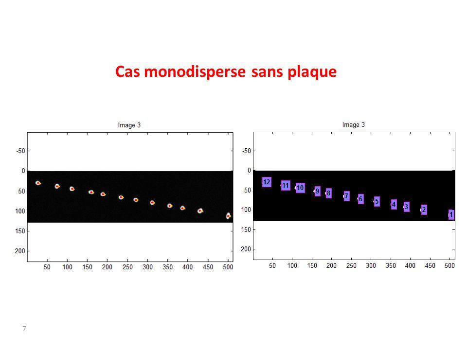 Cas monodisperse sans plaque 7
