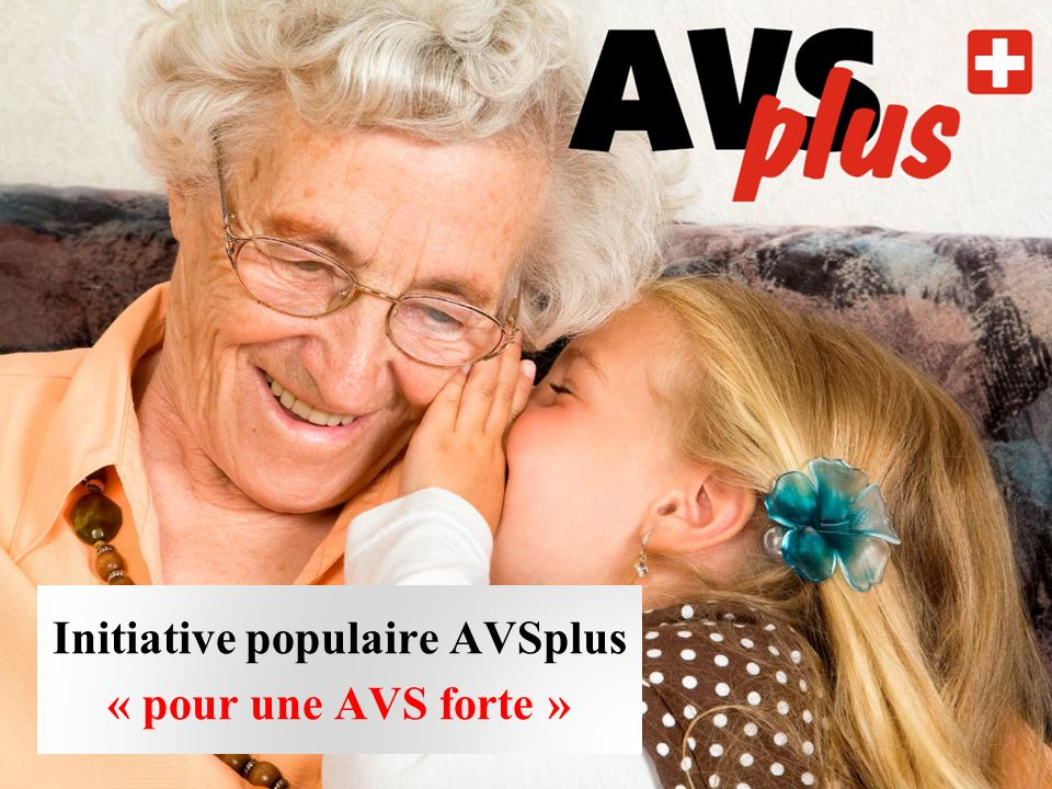 Initiative populaire AVSplus « pour une AVS forte »