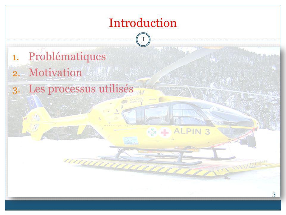 Introduction 3 1. Problématiques 2. Motivation 3. Les processus utilisés I