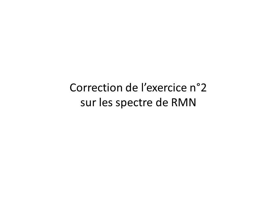 Correction de lexercice n°2 sur les spectre de RMN