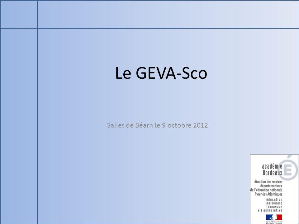 Le GEVA-Sco Salies de Béarn le 9 octobre 2012