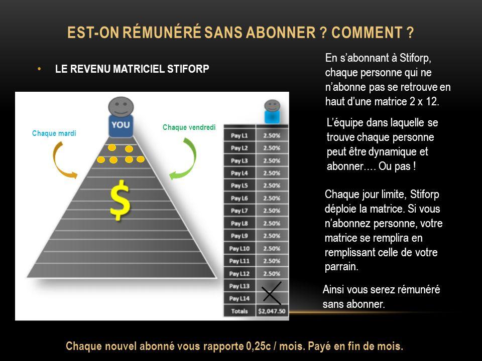 EST-ON RÉMUNÉRÉ SANS ABONNER . COMMENT .