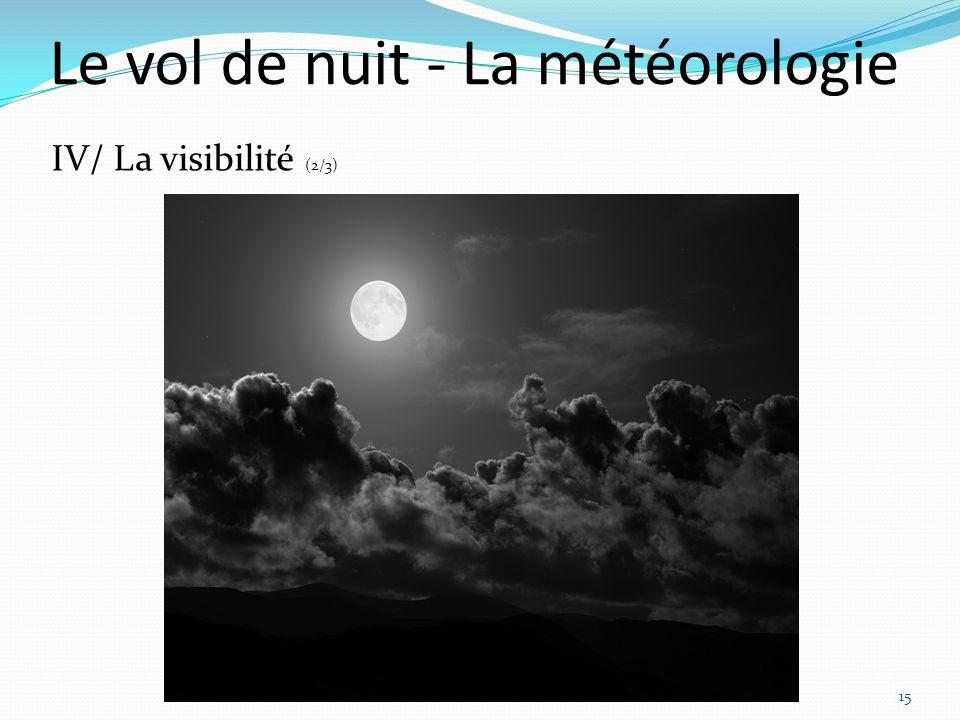 Le vol de nuit - La météorologie 15 IV/ La visibilité (2/3)