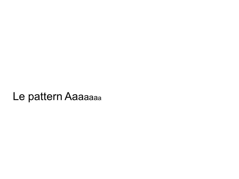 Le pattern Aa a a a a a