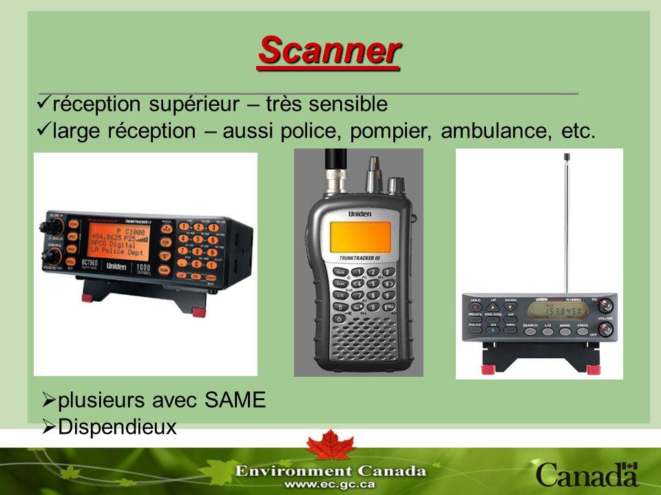 Scanner plusieurs avec SAME Dispendieux réception supérieur – très sensible large réception – aussi police, pompier, ambulance, etc.