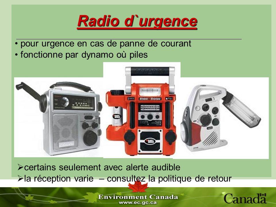 Radio d`urgence certains seulement avec alerte audible la réception varie – consultez la politique de retour pour urgence en cas de panne de courant f