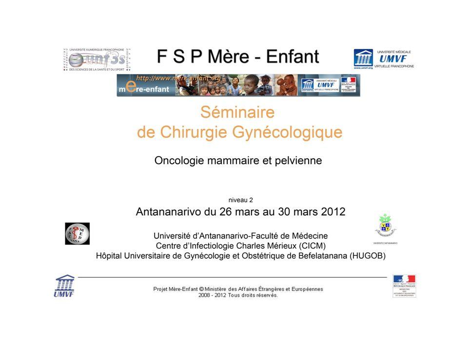 Protocole de traitement du cancer de lovaire Professeur Denis Vinatier-Lille Docteur Malik Boukerou – Saint Denis