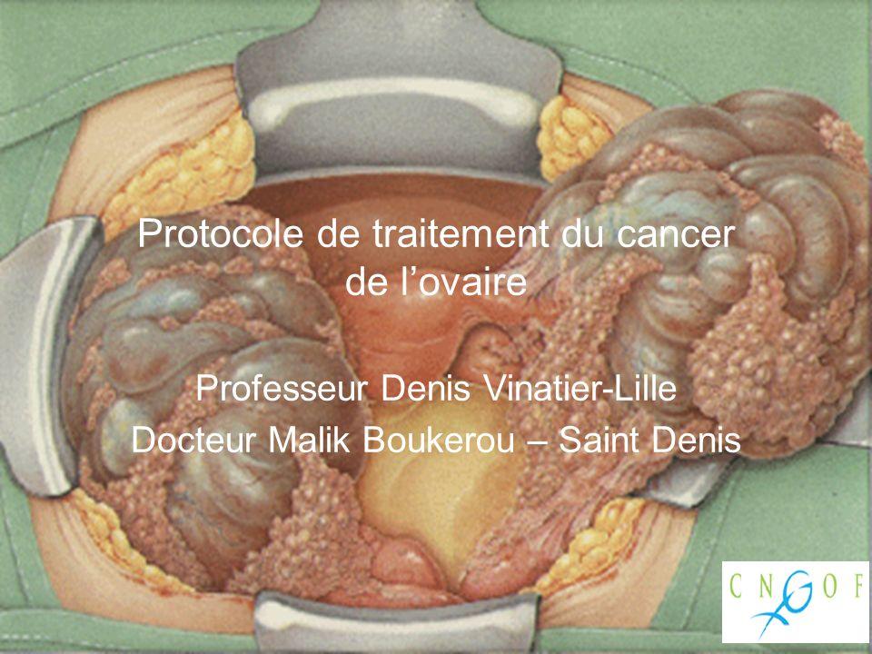 Traitement de lintestin grêle et du mésentère Traitement du colon Traitement du péritoine abdominal Lymphadénectomie lomboaortique Schéma EMC P Morice et Al Paris 2009