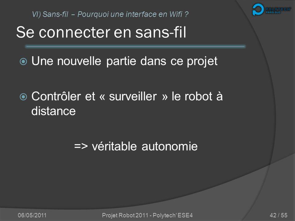 Partie 6 : 06/05/2011Projet Robot 2011 - Polytech' ESE441 / 55