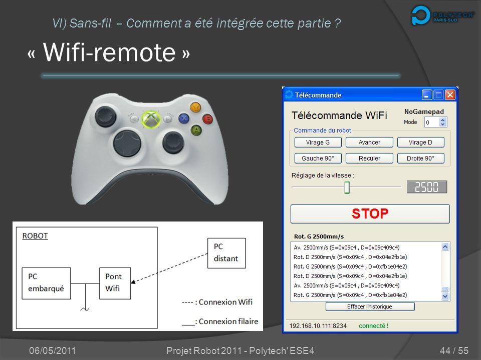 Trois programmes « Wifi-remote » Commander le robot « Dpool-monitor » Informations sur les variables « Client-GUI » Informations sur le robot 06/05/20