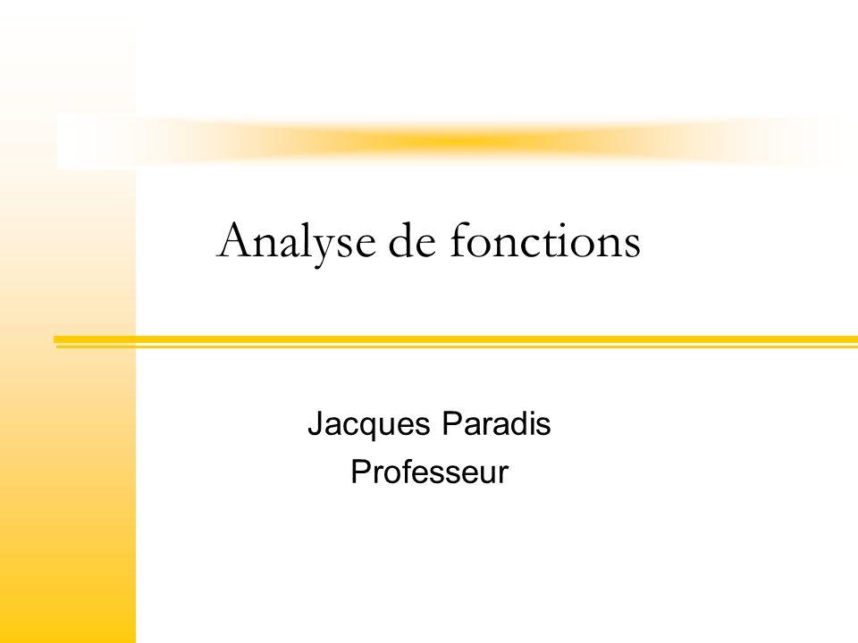 2Département de mathématiques Plan de la rencontre Tableau de variation relatif à f et f Analyse de fonctions sans asymptotes Démarche à suivre Exemples et exercices Analyse de fonctions avec asymptotes Démarche à suivre Exemples et exercices