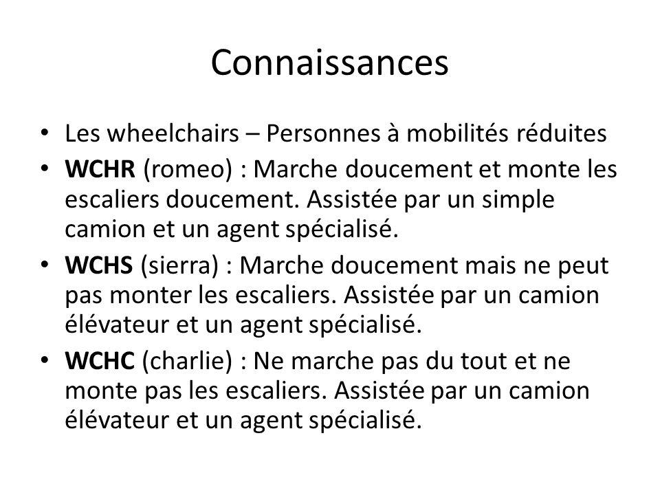 Connaissances Les wheelchairs – Personnes à mobilités réduites WCHR (romeo) : Marche doucement et monte les escaliers doucement. Assistée par un simpl