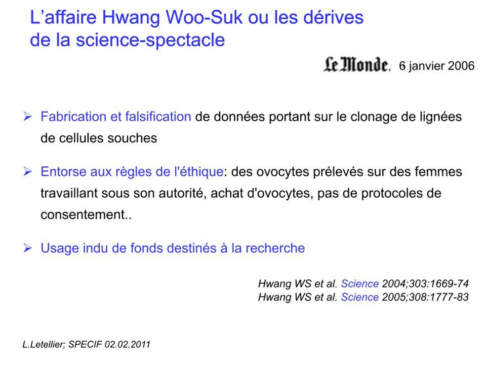 Laffaire Hendrick Schön : un cas décole Hendrik Schön, 32 ans, physicien au Bell Labs Publie 70 articles dans le domaine de la supraconductivité, de lélectronique moléculaire et des nanotechnologies entre 1998 et 2001 En 2000, il publie 8 articles dans Science et Nature En 2001, il fait paraître en moyenne 1 article tous les 8 jours .