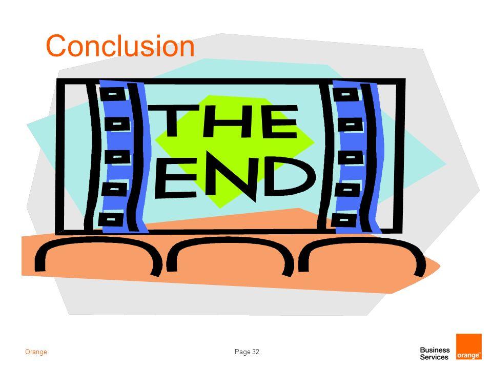 Page 32Orange Conclusion