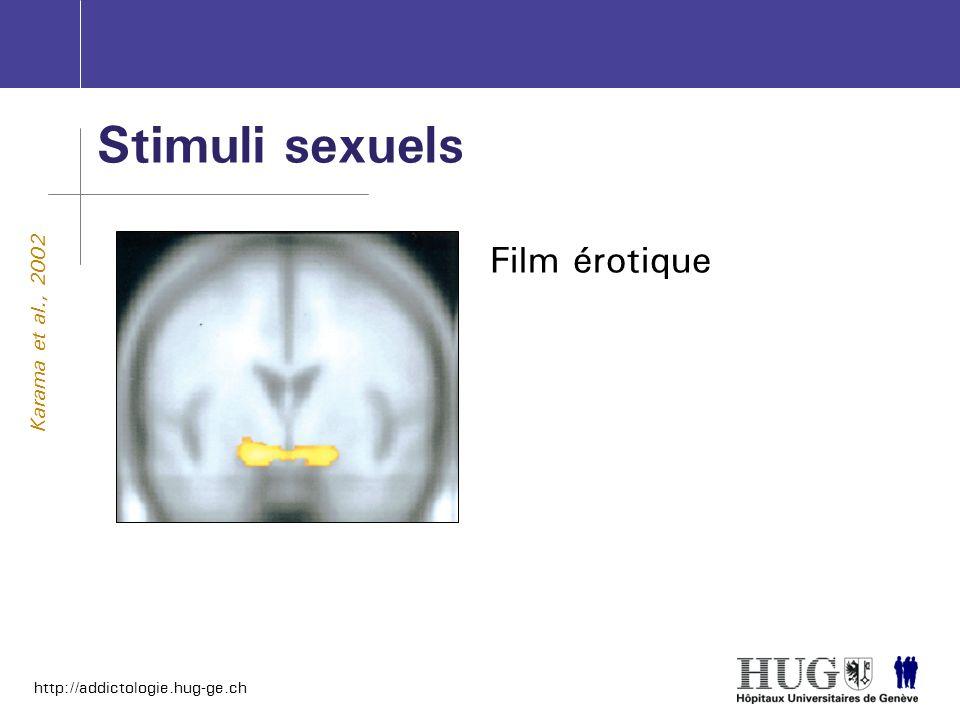 http://addictologie.hug-ge.ch Stimuli sexuels Karama et al., 2002 Film érotique