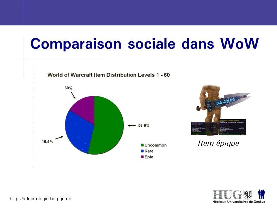 http://addictologie.hug-ge.ch Comparaison sociale dans WoW Item épique