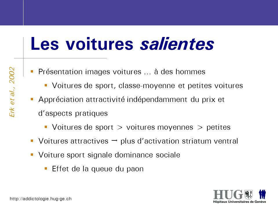 http://addictologie.hug-ge.ch Les voitures salientes Présentation images voitures … à des hommes Voitures de sport, classe-moyenne et petites voitures