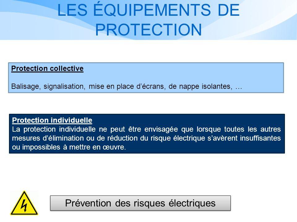 LES ÉQUIPEMENTS DE PROTECTION Protection individuelle La protection individuelle ne peut être envisagée que lorsque toutes les autres mesures délimina