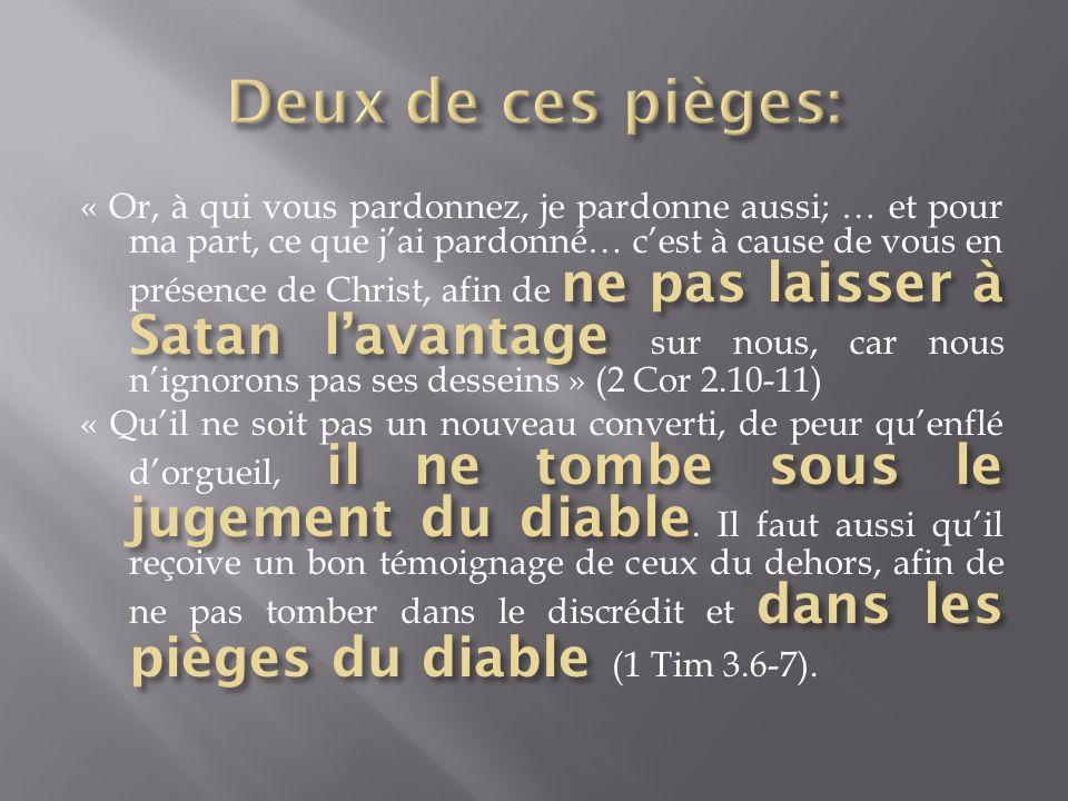 « Cest pourquoi, prenez toutes les armes de Dieu, afin de pouvoir résister dans le mauvais jour et tenir ferme après avoir tout surmonté » (Éph 6.13)