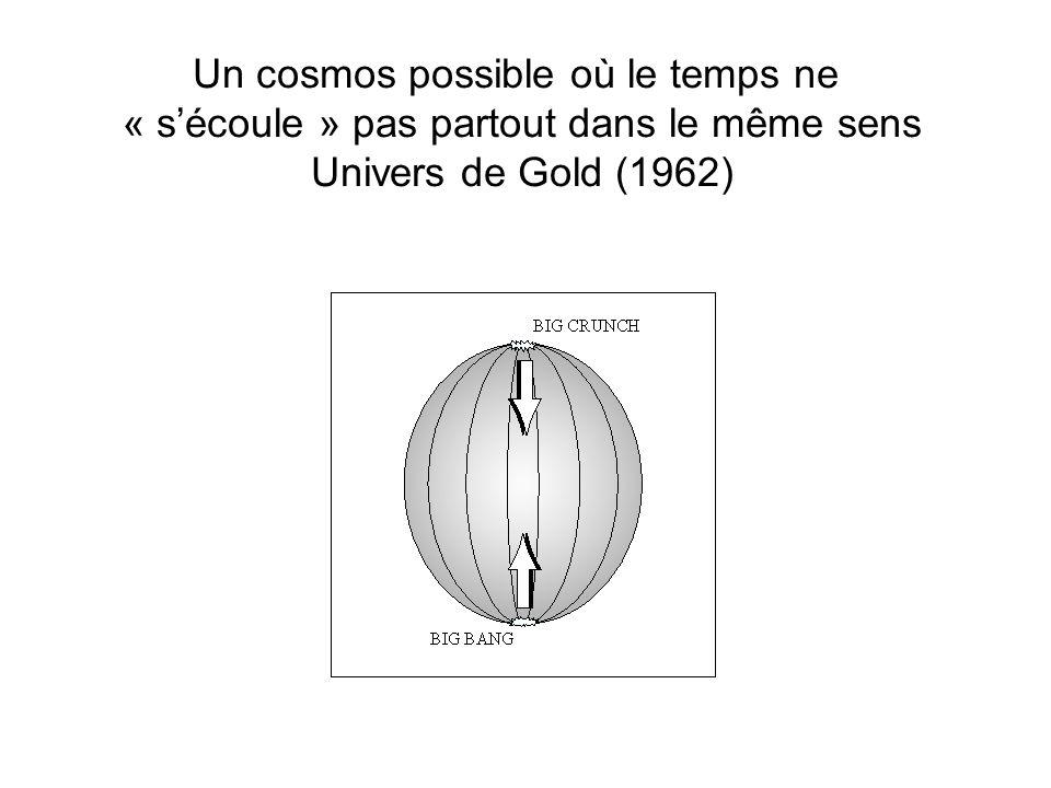 Un cosmos possible où le temps ne « sécoule » pas partout dans le même sens Univers de Gold (1962)