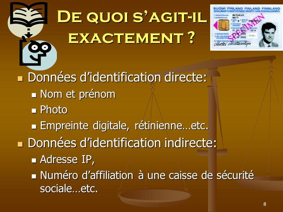 Mais… Larticle 54 exonère ladministration de toutes les contraintes relatives aux garanties de traitement des données personnelles.