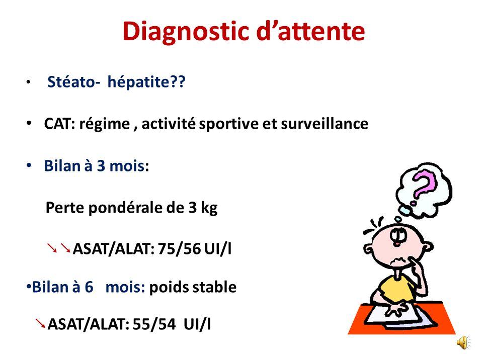 Quest ce qui vous manque ? Test au D penicillamine=0 CPK: 40UI/l Cortisol sérique ; ACTH NX