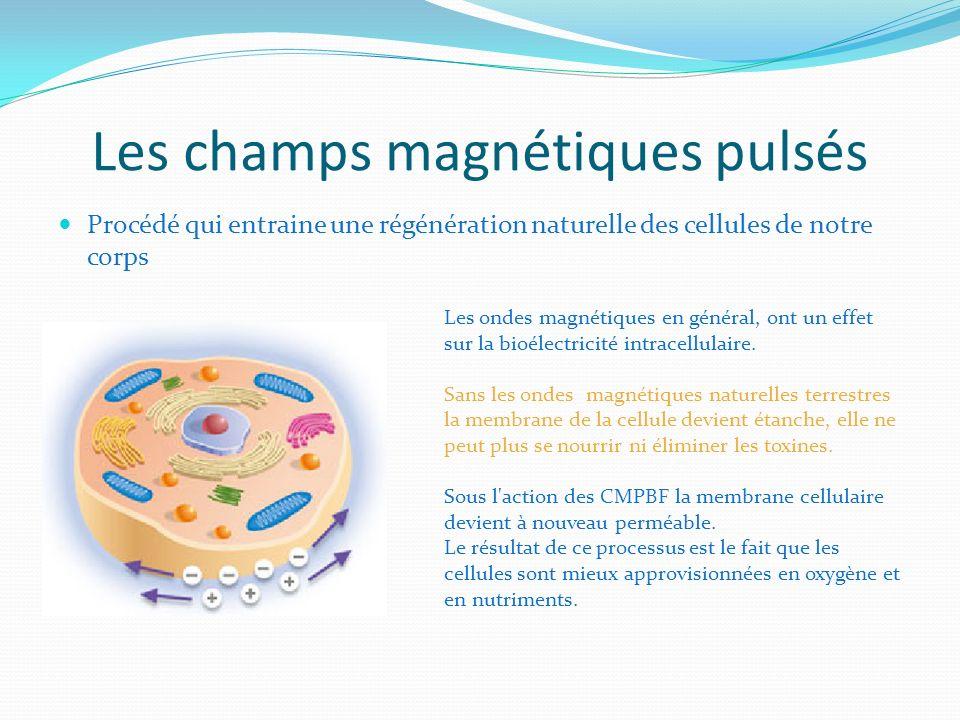Les champs magnétiques pulsés Procédé qui entraine une régénération naturelle des cellules de notre corps Les ondes magnétiques en général, ont un eff