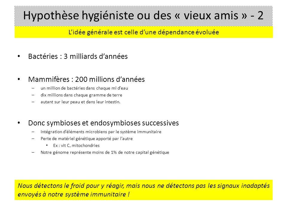 Bactéries : 3 milliards dannées Mammifères : 200 millions dannées – un million de bactéries dans chaque ml deau – dix millions dans chaque gramme de t