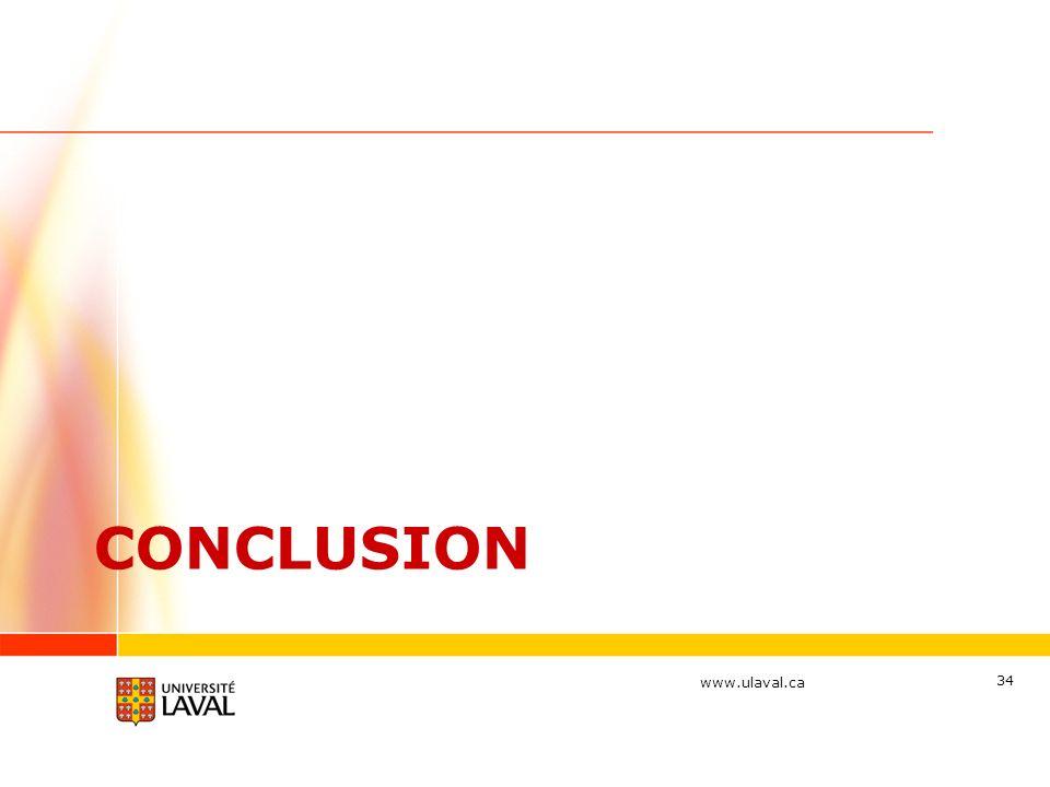www.ulaval.ca CONCLUSION 34