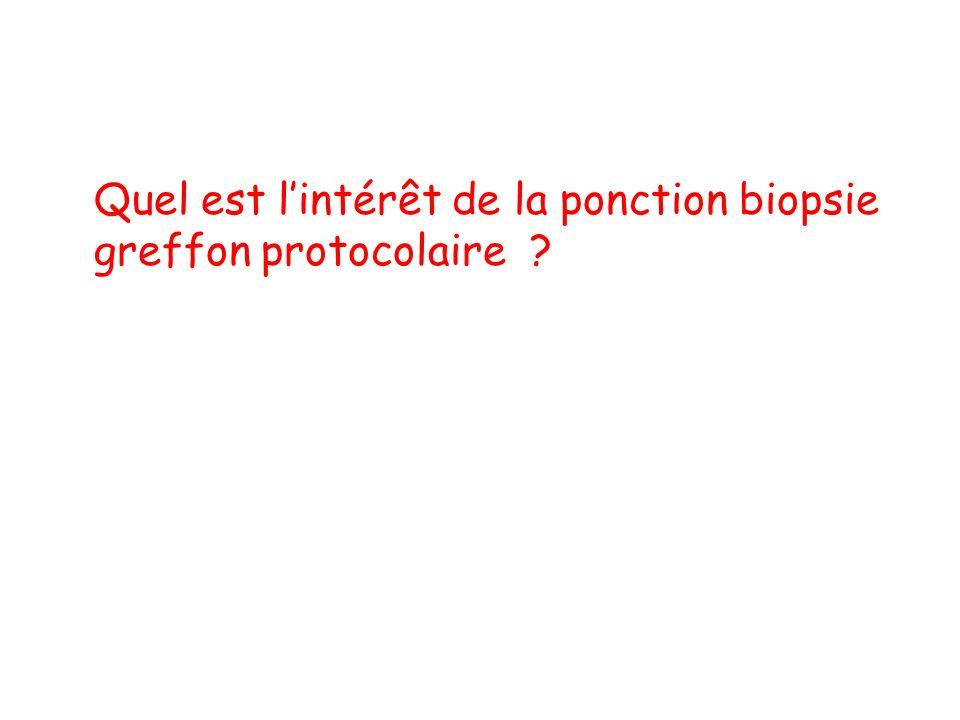 Quel est lintérêt de la ponction biopsie greffon protocolaire ?