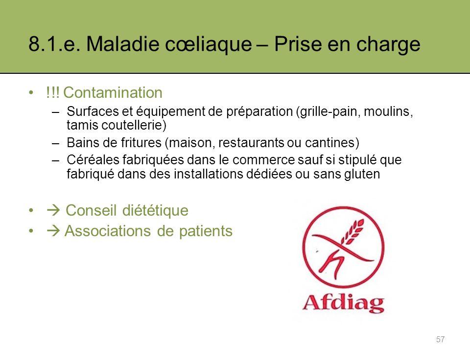 8.1.e.Maladie cœliaque – Prise en charge !!.