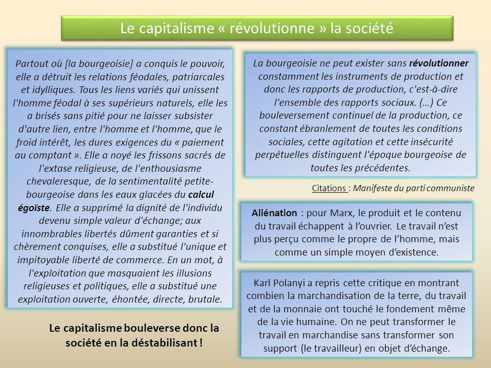 Lexploitation, une notion économique La somme des moyens de subsistance nécessaires à la production de la force de travail comprend les moyens de subs