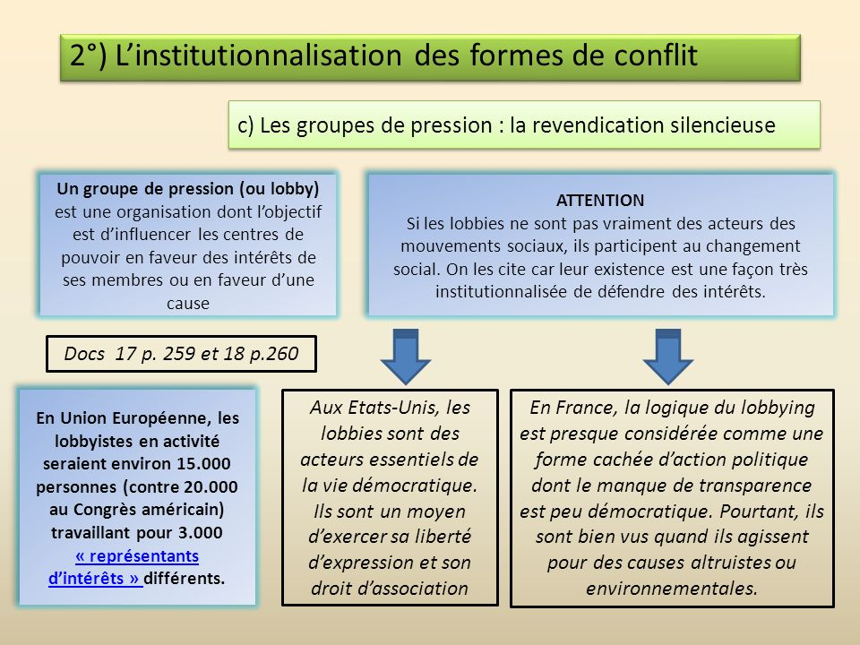 2°) Linstitutionnalisation des formes de conflit b) Institutionnalisation = « trahison » ? Léthique de conviction est une attitude morale qui consiste