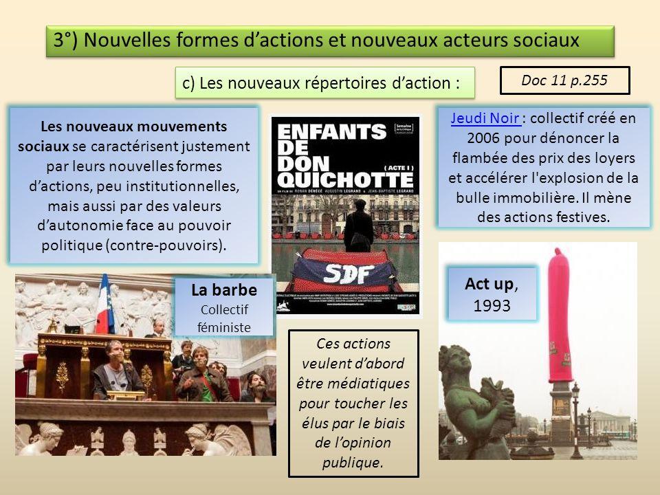 3°) Nouvelles formes dactions et nouveaux acteurs sociaux b) De nouveaux acteurs Les sept familles de rebelles Les sept familles de rebelles En dehors