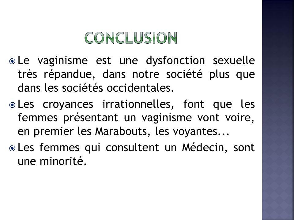Le vaginisme est une dysfonction sexuelle très répandue, dans notre société plus que dans les sociétés occidentales.