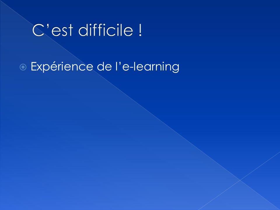 Expérience de le-learning