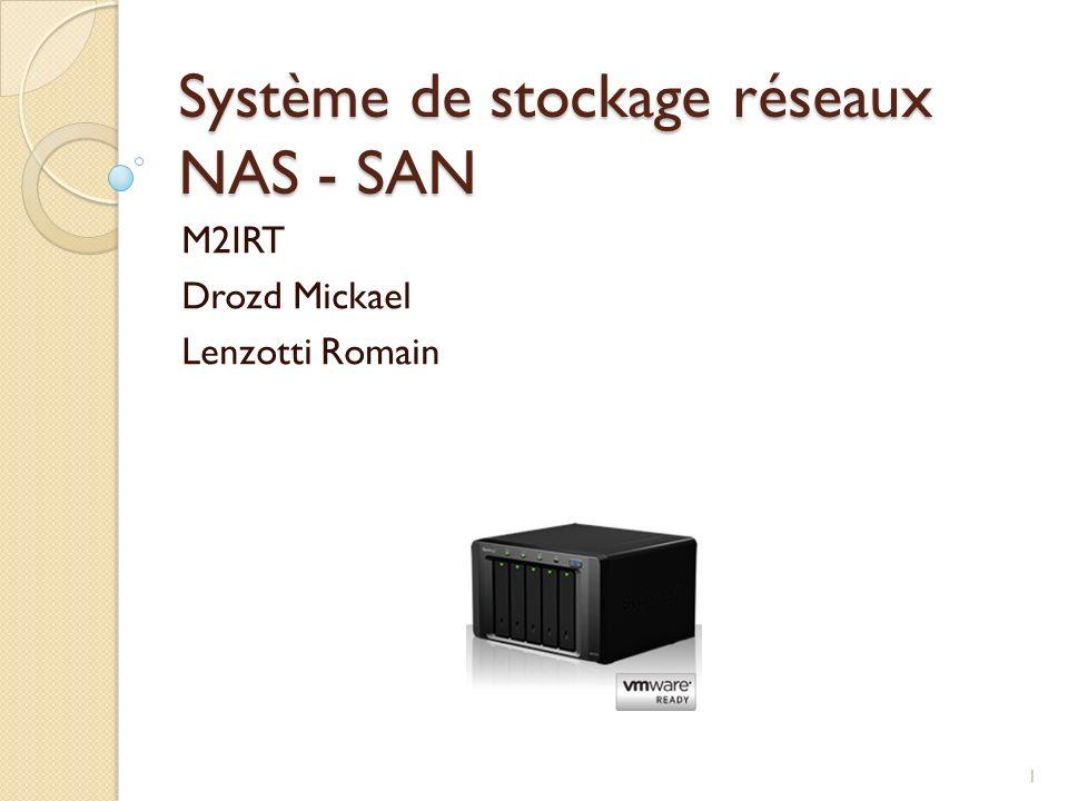 Système de stockage réseaux NAS - SAN M2IRT Drozd Mickael Lenzotti Romain 1