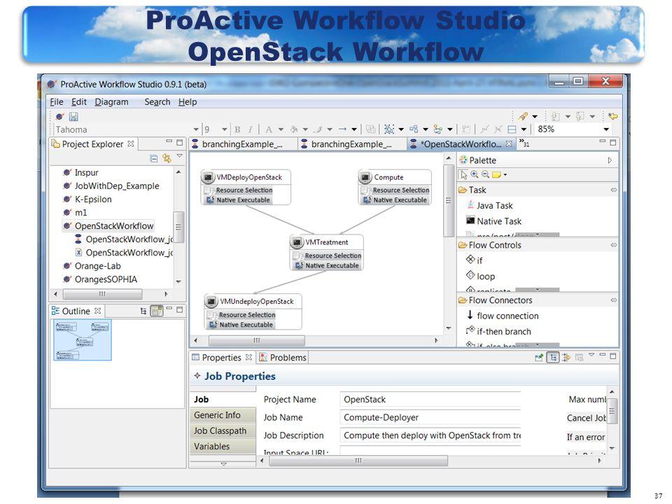 37 ProActive Workflow Studio OpenStack Workflow