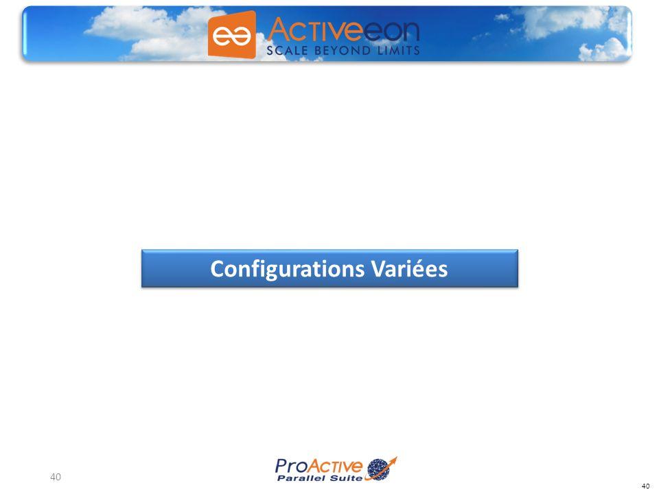 40 Configurations Variées