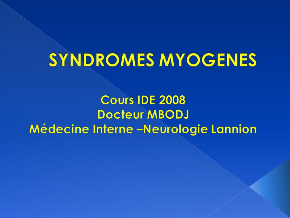 Maladie de Duchenne et Boulogne Maladie de Steinert Myopathie facio-scapulo-humérale Myopathie des ceintures Myopathie occulo-pharyngée