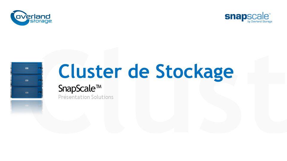 Clust Cluster de Stockage SnapScale Présentation Solutions