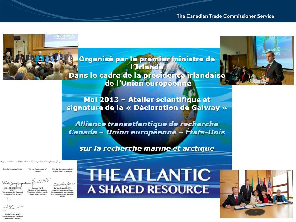 Organisé par le premier ministre de lIrlande Dans le cadre de la présidence irlandaise de lUnion européenne de lUnion européenne Mai 2013 – Atelier sc