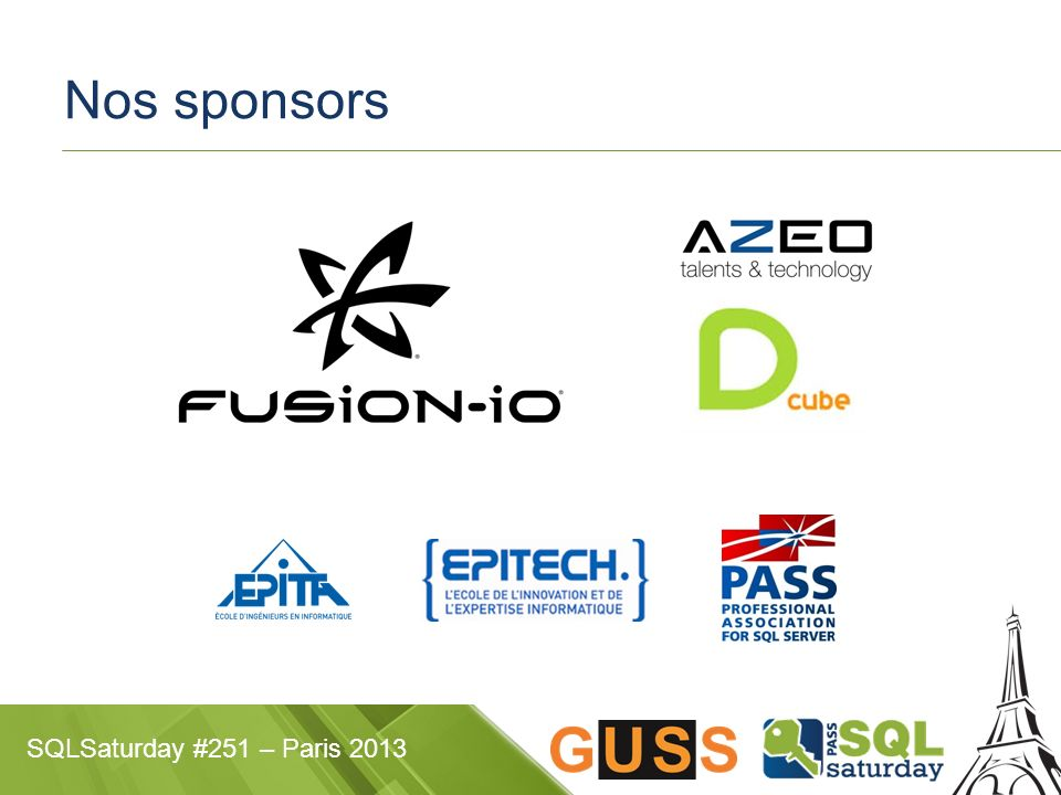 SQLSaturday #251 – Paris 2013 Nos sponsors