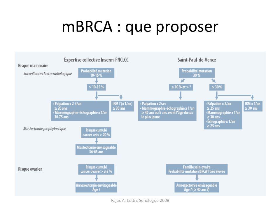 Fajac A. Lettre Senologue 2008 mBRCA : que proposer