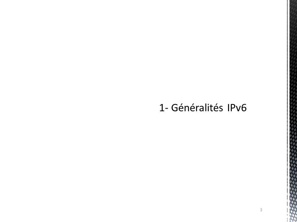 LIPv6 (Internet Protocol version 6) est un protocole réseau sans connexion de la couche 3 du modèle OSI.