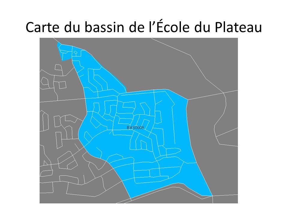 Carte du bassin de lÉcole du Plateau