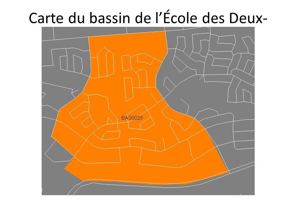 Carte du bassin de lÉcole des Deux- Ruisseaux