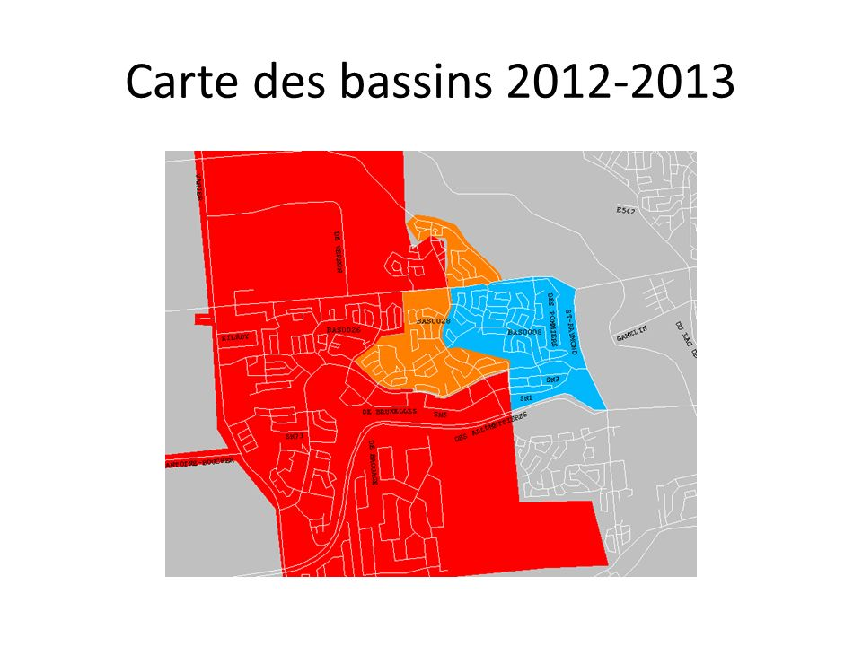 Carte des bassins 2012-2013