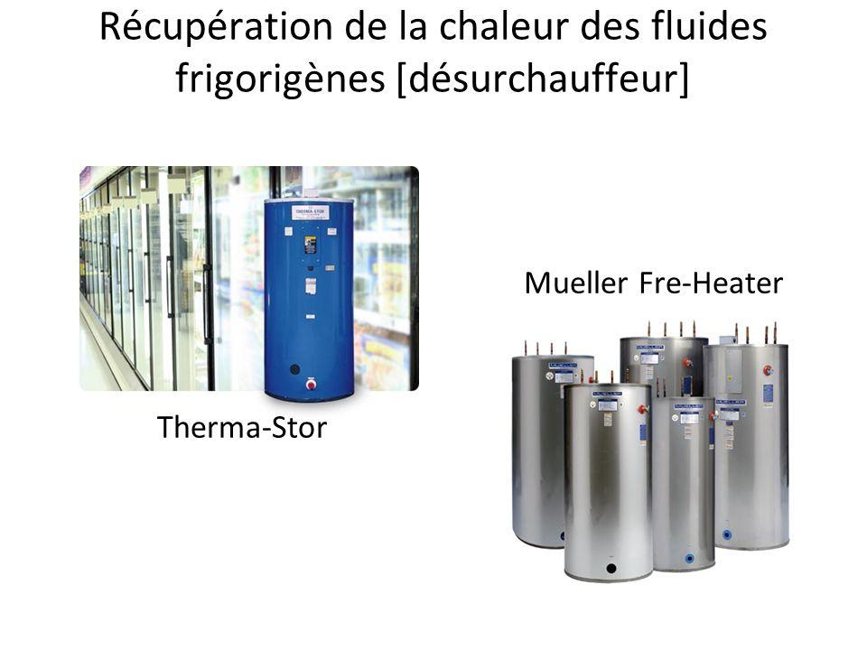 Récupération de la chaleur des fluides frigorigènes [désurchauffeur] Therma-Stor Mueller Fre-Heater